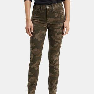 Levi's Denim 311 Shaping Skinny Camo Jeans